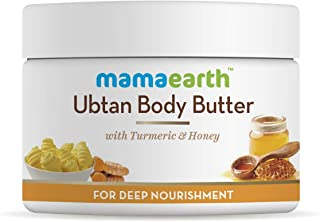 Mamaearth Ubtan Body Butter, For Dry Skin, For Winters, With Turmeric & Honey, For Deep Nourishment, 200g