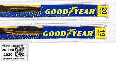 Premium - Windshield Wiper Blade Bundle - 3 Items: Driver & Passenger Blades & Reminder Sticker fits 1988-1991 Honda Civic