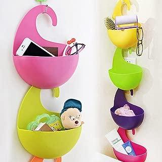eoocvt 4pcs Colorful Multi-Purpose Hanging Basket Multilayer Superposition Wall-Hanging Eco-Friendly Plastic Receive Storage Basket