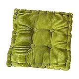 Demarkt Rechteck Sitzkissen Stuhlkissen Kissen für Stühle im Auto oder zu Hause Grün 40*40cm