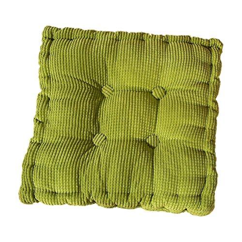 MSYOU Stuhlkissen, weich, einfarbig, bequem, für Zuhause, Küche, Garten, Esszimmer, Büro, 40 x 40 cm, Grün 40 * 40cm grün