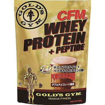 ゴールドジム(GOLD'S GYM) CFMホエイプロテイン ダブルチョコレート風味 900g