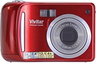 Vivitar 12.1MP HD Digital Camera with 2.4-Inch LCD VT324-STRAWBERRY