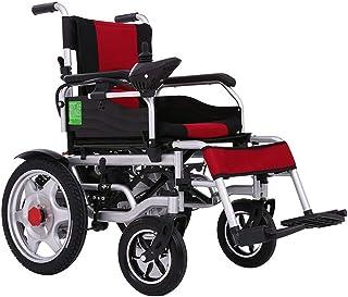 Inicio Accesorios Silla para discapacitados para personas mayores Silla de ruedas eléctrica con reposapiés abatibles Silla de ruedas plegable y liviana con 2 baterías Rango de conducción más largo