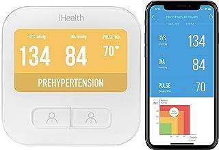 iHealth BPM1 Monitor de presión arterial de brazo inalámbrico inteligente con pantalla