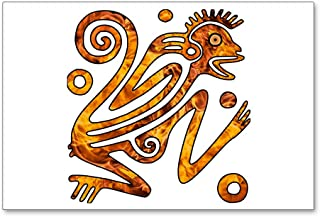 Postcards (8 Pack) Chinese New Year Aztec Style Fire Monkey 2016