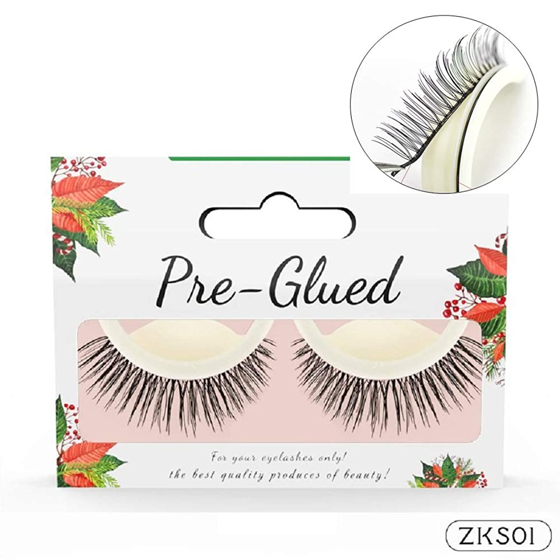 ダーリン記念日ラブ2Pair/set 3D Handmade False Eyelash Self Adhesive Lashes No Glue Makeup Natural Long Fake Lash Extension Beauty Tools 3Dまつげ自己粘着眉毛接着剤メイクアップナチュラルロングフェイクラッシュエクステンション美容ツール