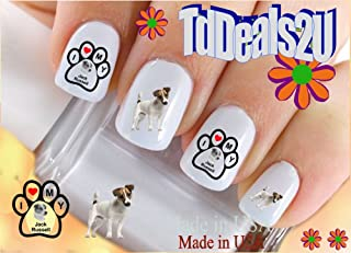 Dog Breed - Jack Russell Terrier I Love Nail Decals - WaterSlide Nail Art Decals - Highest Quality! Made in USA