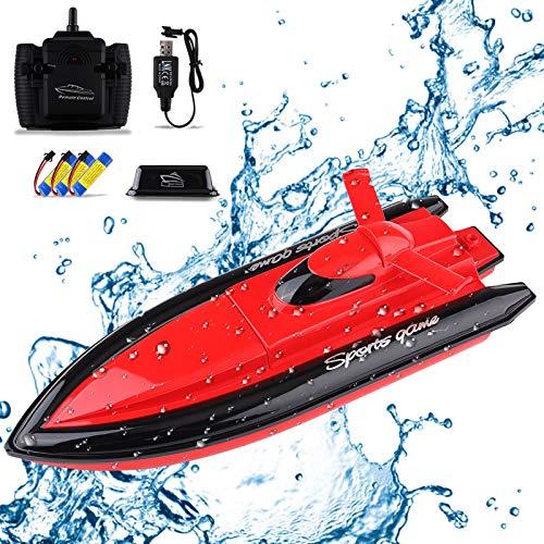 Seamuing Barco Teledirigido, Barcos de Control Remoto Lancha Radiocontrol Electrico de 2.4...