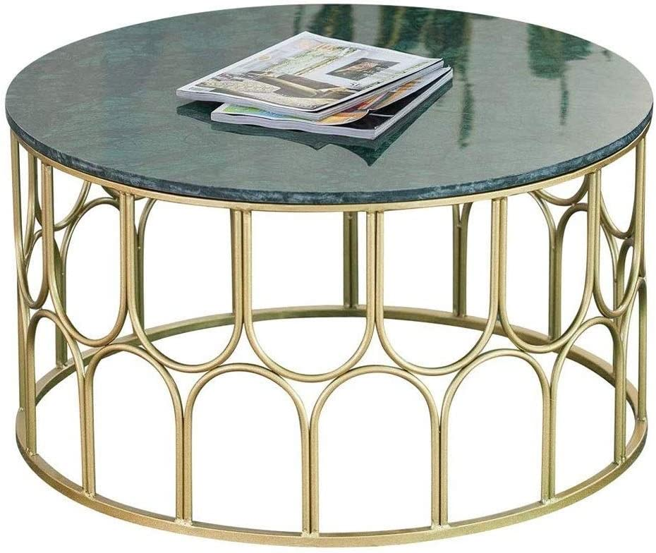HIZLJJ End Tables Super beauty product restock quality top! Coffee Table Leg Design Metal Industrial Factory outlet Round