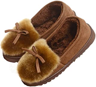 Women Cozy Faux Fur House Slippers Moccasins Ladies Breathable Indoor Outdoor Comfort Loafer Shoes