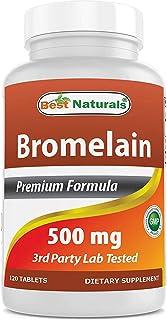 Bromelina | Best Naturals | Suplemento de Enzimas Digestivas | 500 mg | 120 Cápsulas