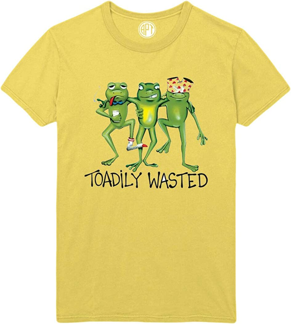 Toadily Wasted Frog Trio Printed T-Shirt
