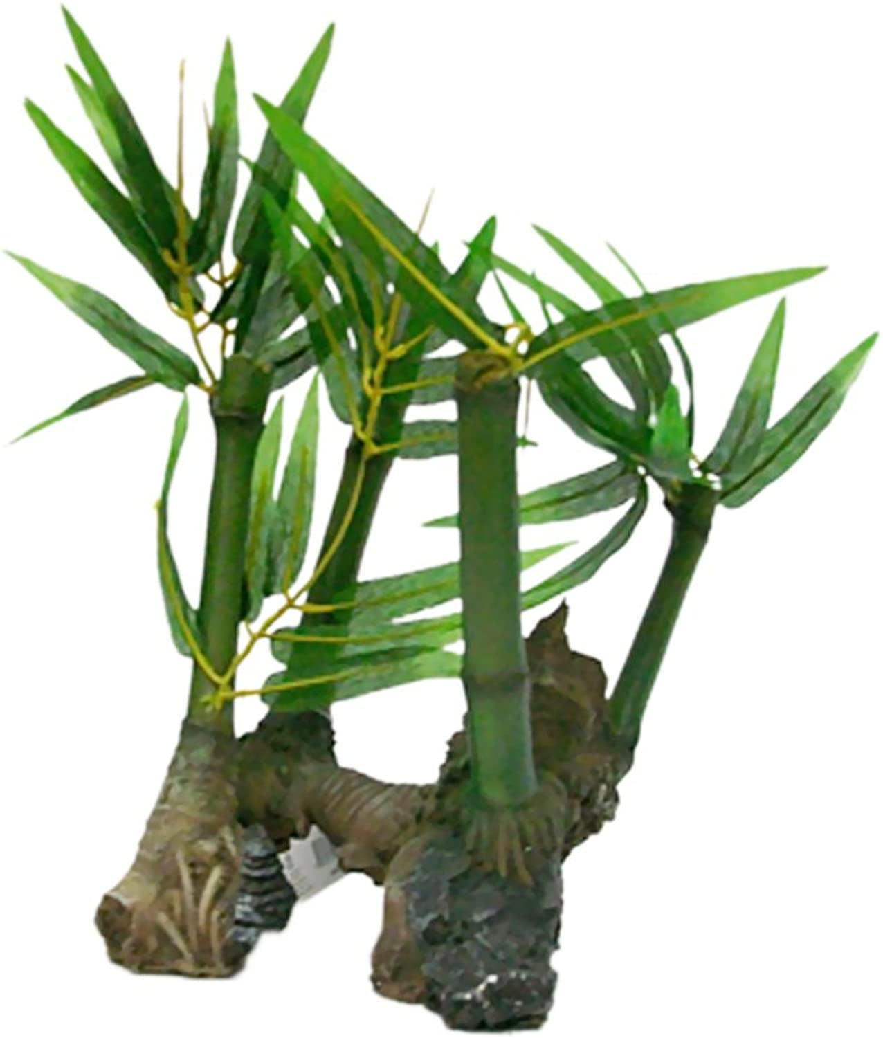 PenPlax REPB1 Bamboo Roots with Silk Plants