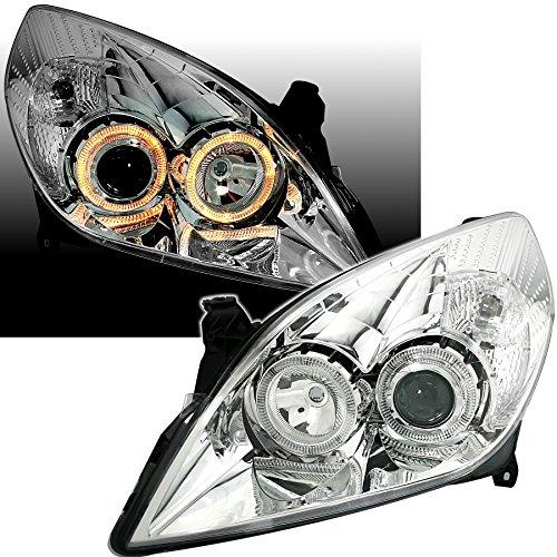 AD Tuning GmbH & Co. KG 960762 Angel Eyes Fernscheinwerfer Set, Klarglas Chrom