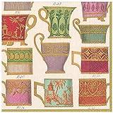 Caspari Paper Dinner Napkins in Ivory, Package Salon de Thé-Tovaglioli di Carta, 20 Pezzi, Colore: Avorio, Bianco Sporco