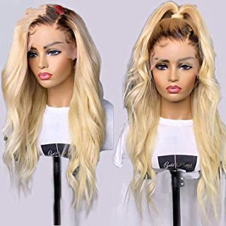 1B/613 Blonde Lace Front Human Hair Wigs With Baby Hair 150% Density Brazilian Body Wave Hair 13x4 Lace Front Wigs,T1B 613,10inches