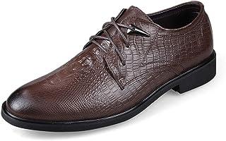 bac40c86 Apragaz De Los Hombres Oxfords de Impresión de La Textura del Cocodrilo de Moda  Zapatos de