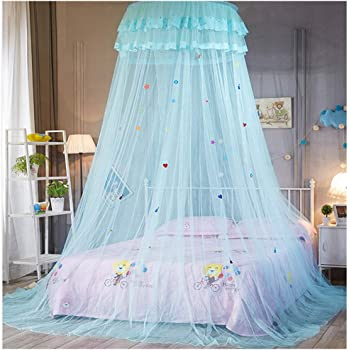 Height :2.7M White Bed Canopy for Girls Dome Princess Mosquito Net for Kids Playing Nursery Decor Full Coverage Fly Insect Protection