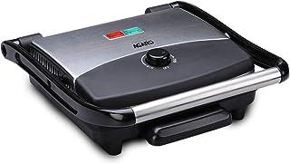 AGARO Elegant 1500-Watt Sandwich Maker with Non-Stick Grill Plates (Black)