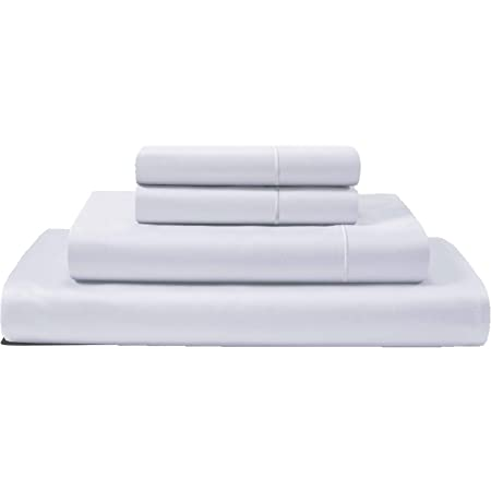Amazon Com Chateau Home Collection 100 Egyptian Cotton Sheets Queen Size 800 Thread Count White 4 Piece Sheet Set Solid Sateen Weave 16 Deep Pocket Fits Upto 18 Mattress Long Staple Cotton Bedsheet