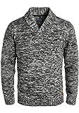 Blend Takuto Herren Winter Pullover Strickpullover Grobstrick Pullover mit Schalkragen, Größe:XL, Farbe:Black (70155)