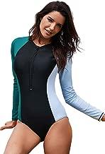 SailBee Women's One Piece Rashguard Wetsuit Swimsuit Sun Protection