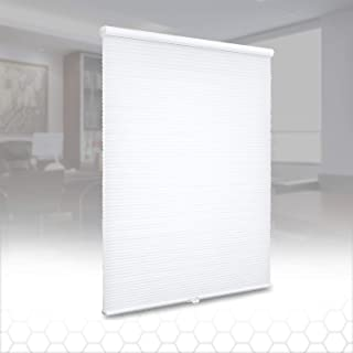 SUNFREE Cellular Shades Cordless Honeycomb Blinds Light Filtering Window Shades Door Shades for Home and Office 36 x 64 inch White