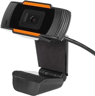 VIFER Webcam HD 3MP USB Webcam Computadora de Video Digital Cámara Web con Micrófono Incorporado(Negro + Naranja)