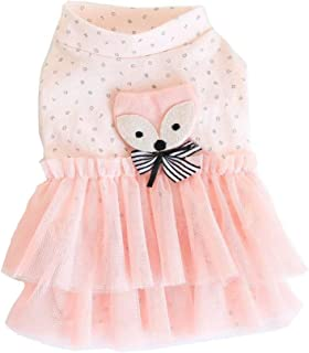 BBEART Pet Clothes, Small Dogs Clothing Sweet Pink Princess Dress Girl Dog Tutu Skirt Clothing Puppy Cat Apparel Clothes Lovely Wedding Dresses for Spring and Summer Small Dogs