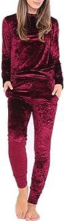 Minisoya Ladies Mock Neck Velvet Lounge Suit Casual Sweatshirt Tops Long Pants Sportswear Women Tracksuit Set