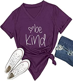 Womens T Shirt Casual Cotton Short Sleeve V-Neck Graphic...