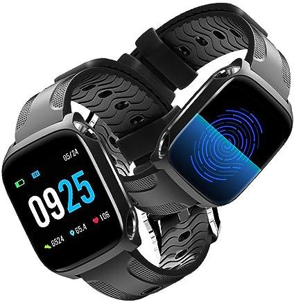 GLAMSVILL Montre Connectée Smartwatch Bracelet Connecté Ecran Tactile Complet 1.3in Écran Couleur Femme Homme Enfant Sport Cardio Fitness Tracker dActivité ...