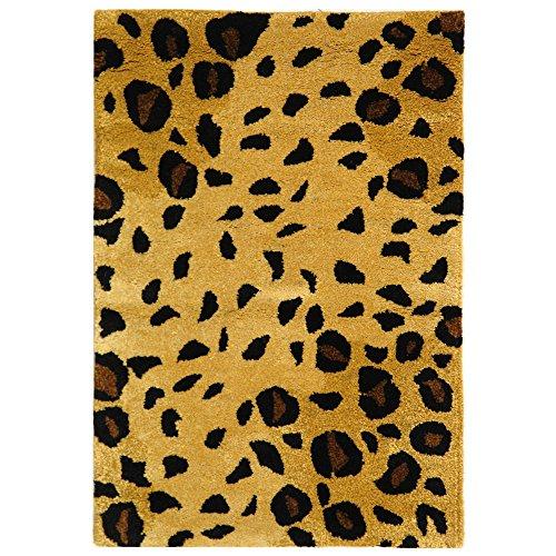 Safavieh Soho Collection - Alfombra de Lana de Primera Calidad Hecha a Mano, Color Dorado y Negro (2 x 3 pies)