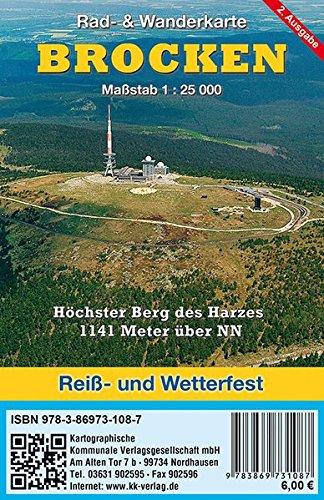 Preisvergleich Produktbild Brocken: Rad- & Wanderkarte (wetterfest)