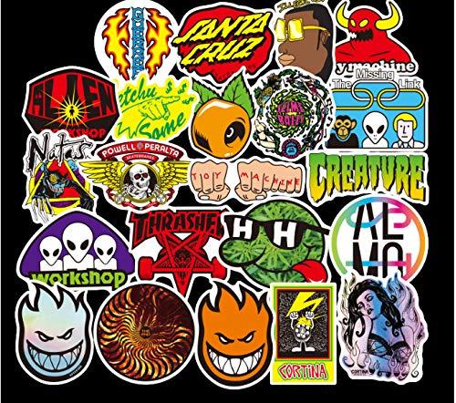 100 UNIDS Mix logotipo de la marca Pegatinas para Laptop Skateboard Equipaje Car Styling Bike Calcomanías Etiqueta Impermeable Fresca