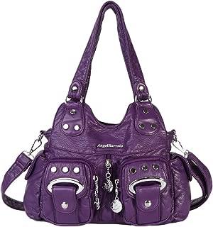 Bolso Bandolera Mujer de Cuero PU Multibolsillo Bolso de Hombro Shopper Casual Bolso Messenger Bolso Vintage de Se/ñora,Azul