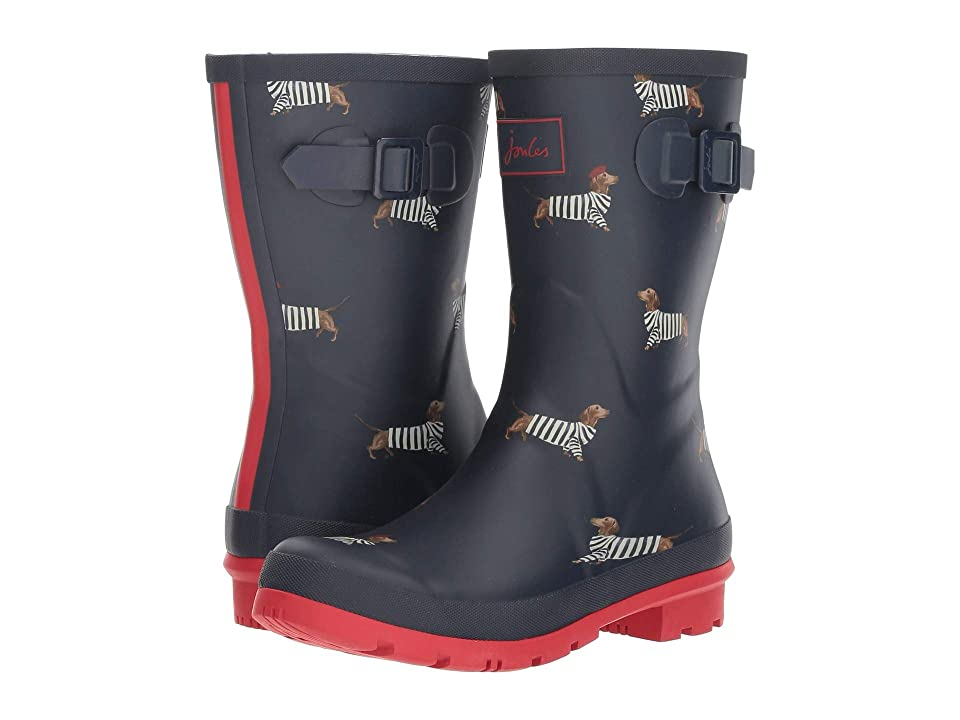 Joules Mid Molly Welly (French Navy Daschund) Women