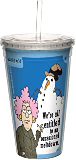 Tree-Free Greetings 16-Ounce Cool Cup with Reusable Straw, Aunty Acid Occasional Meltdown (CC98608)