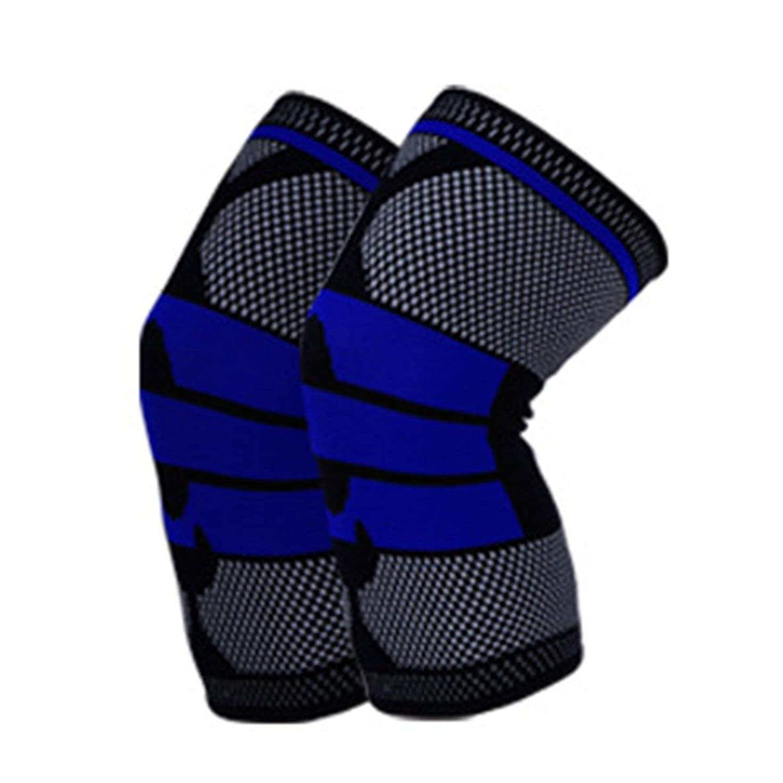 インスタント差し引くほぼフル膝プロテクター秋冬フルシーズン弾性通気性膝パッドレリーフ防止スポーツ膝サポートブレース - ブラックM