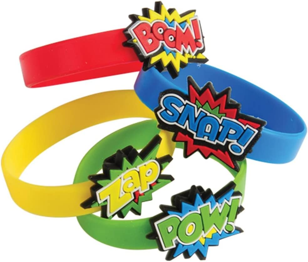 Challenge the lowest price U.S. Toy Superhero Rubber Standard Size Multicolor low-pricing Bracelets
