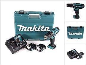 MAKITA HP331DSAE Taladro percutor a bateria 10.8V litio-ion 2.0 Ah, 150 W, 10.8 V, Azul Claro