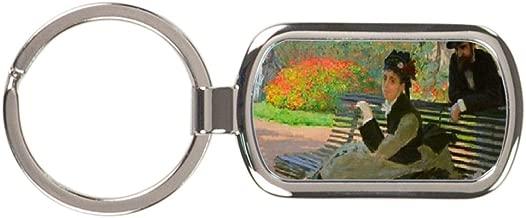 Camille Claude Monet On A Garden Bench Key Chain