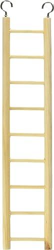 Prevue Pet Products BPV385 Birdie Basics 9-Step Wood Ladder for Bird, 14-1/2-Inch