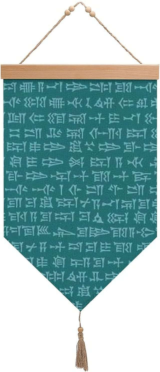 Soldering Cuneiform Teal Cotton And Linen Tassels Ha With List price Exhibition Flags
