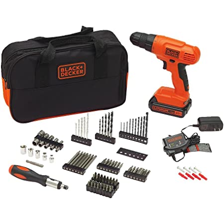 BLACK+DECKER 20V MAX Drill & Drill Bit Set, 100 Piece (BDC120VA100)