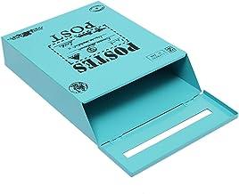 Muur Opknoping Gemonteerd Vergrendeling Mailbox 12 Inch Vintage Drop Brievenbus Postdoos Met Sleutels Schilderen Ontwerp H...