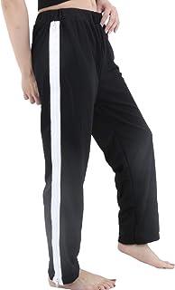 [RONDEL-BLACK(ロンデルブラック)] ダンス衣装 ヒップホップ サイド ジッパー パンツ ボトムス ストレートパンツ ジャージ 黒 ブラック