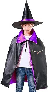 IOPIOA Texas TX Longhorn Lone Star State Flag Children Unisex Cloak Wizard Hat Halloween Party Cosplay