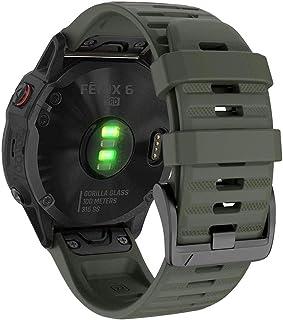 YOOSIDE Silicone QuickFit Band for Garmin Fenix 6 Pro/Sapphire, 22mm Soft Waterproof Non-allergenic Wristband Strap for Ga...